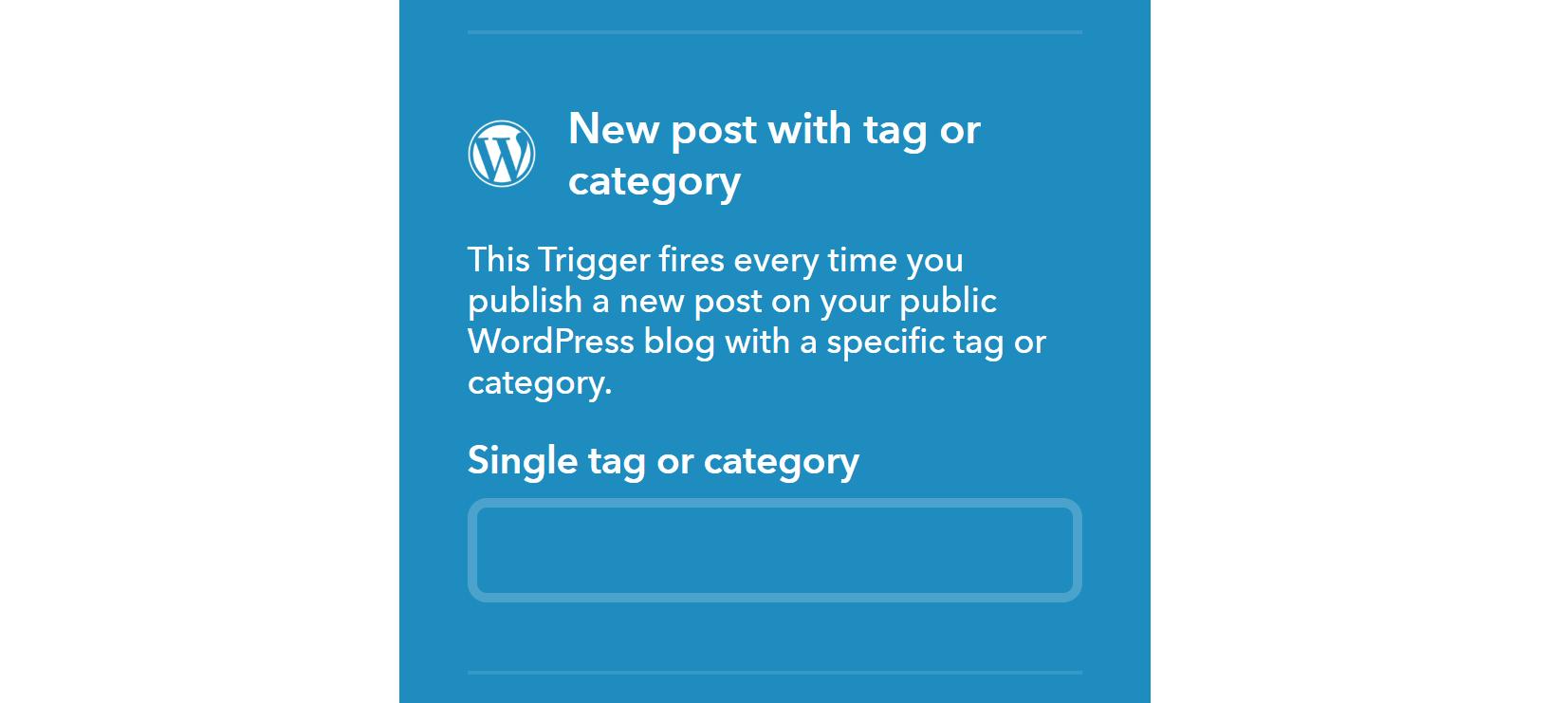 Choosing a Pinterest category in IFTTT.
