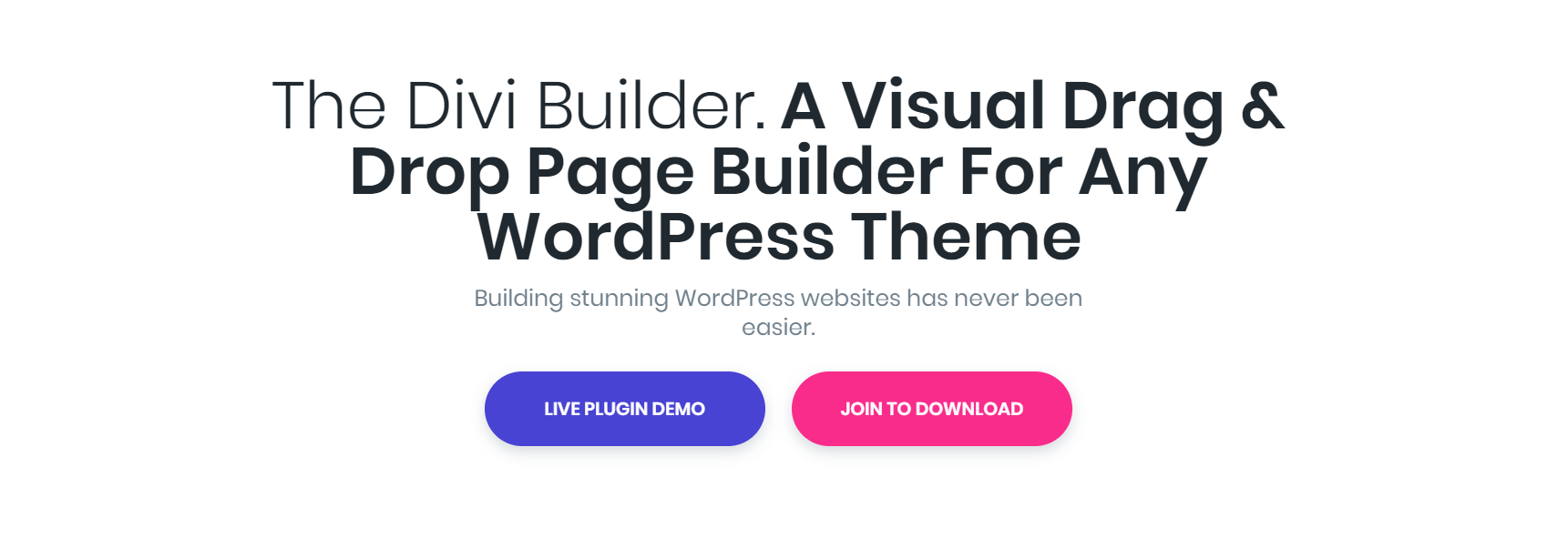 The Divi Builder website.