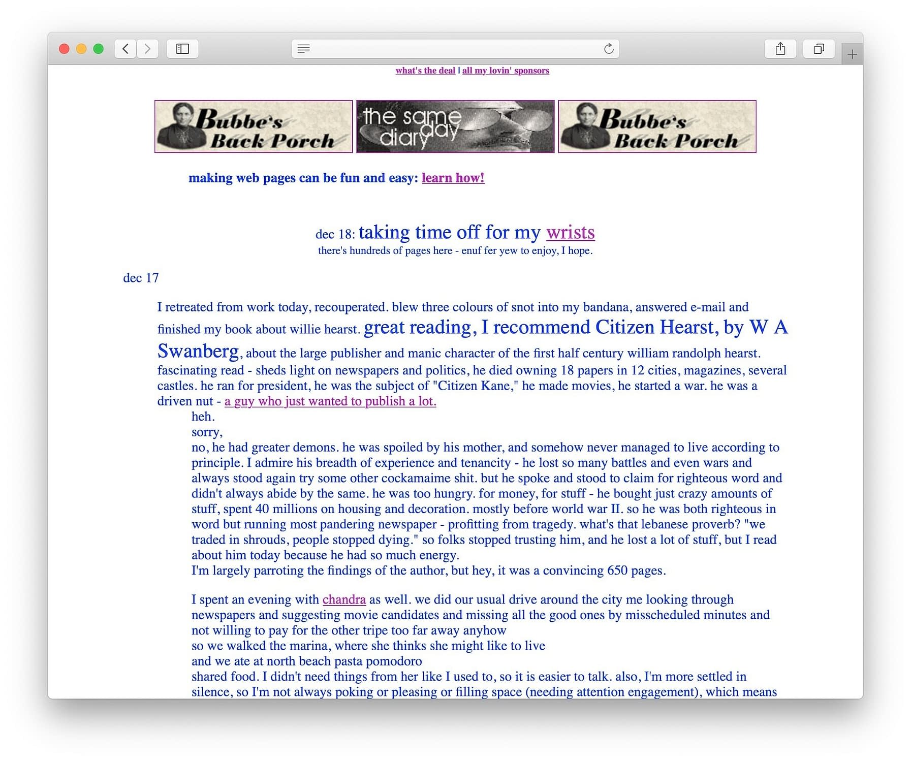 The history of blogging starts with Links.net