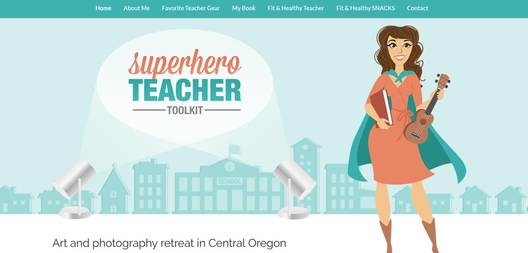 custom branded website: Superhero Teacher