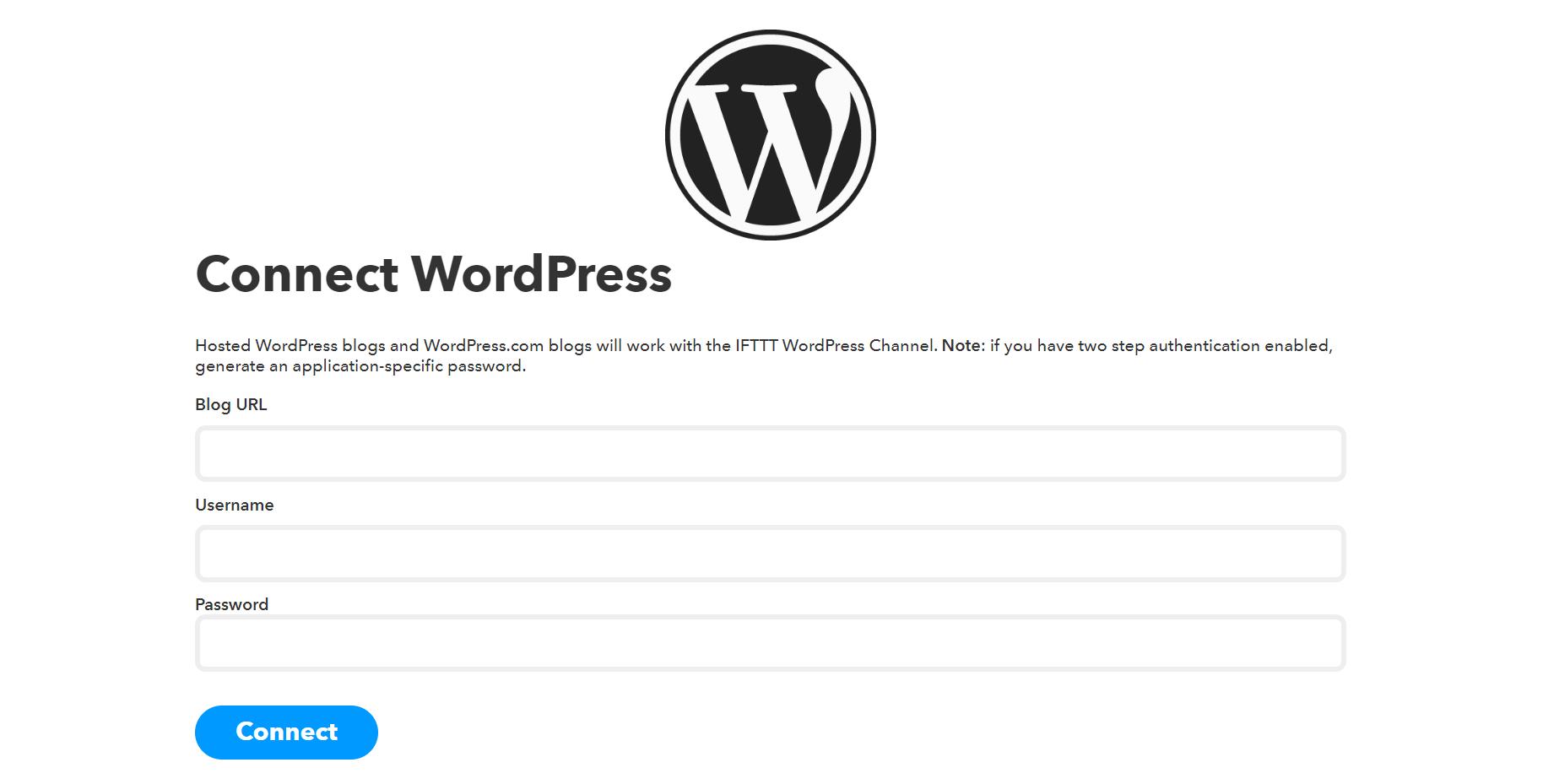 Connecting IFTTT to your WordPress website.