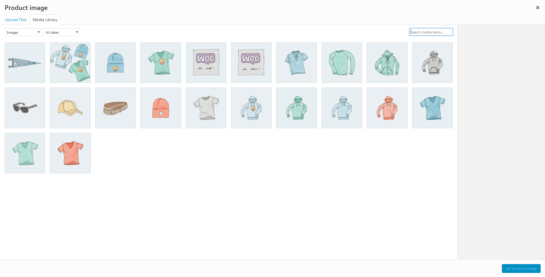 Adding a product image to WooCommerce.
