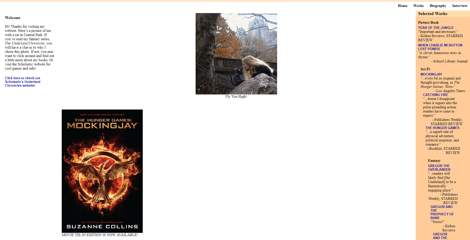 Suzanne Collins' website.