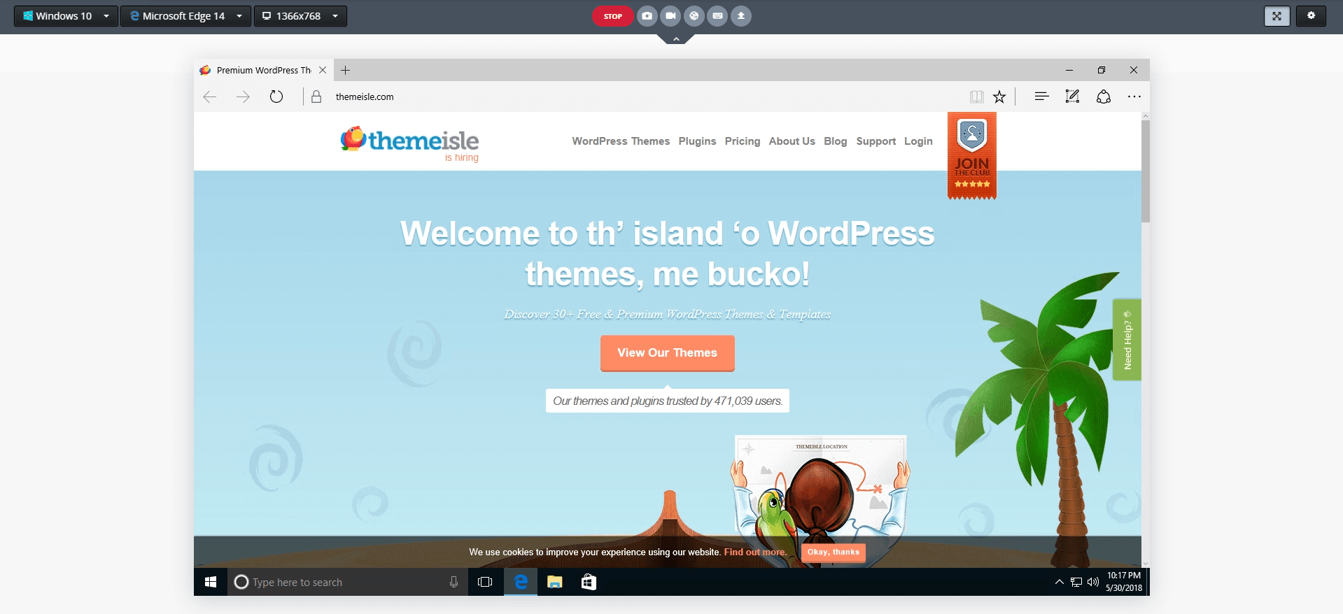 test a website in different browsers with CrossBrowserTesting.