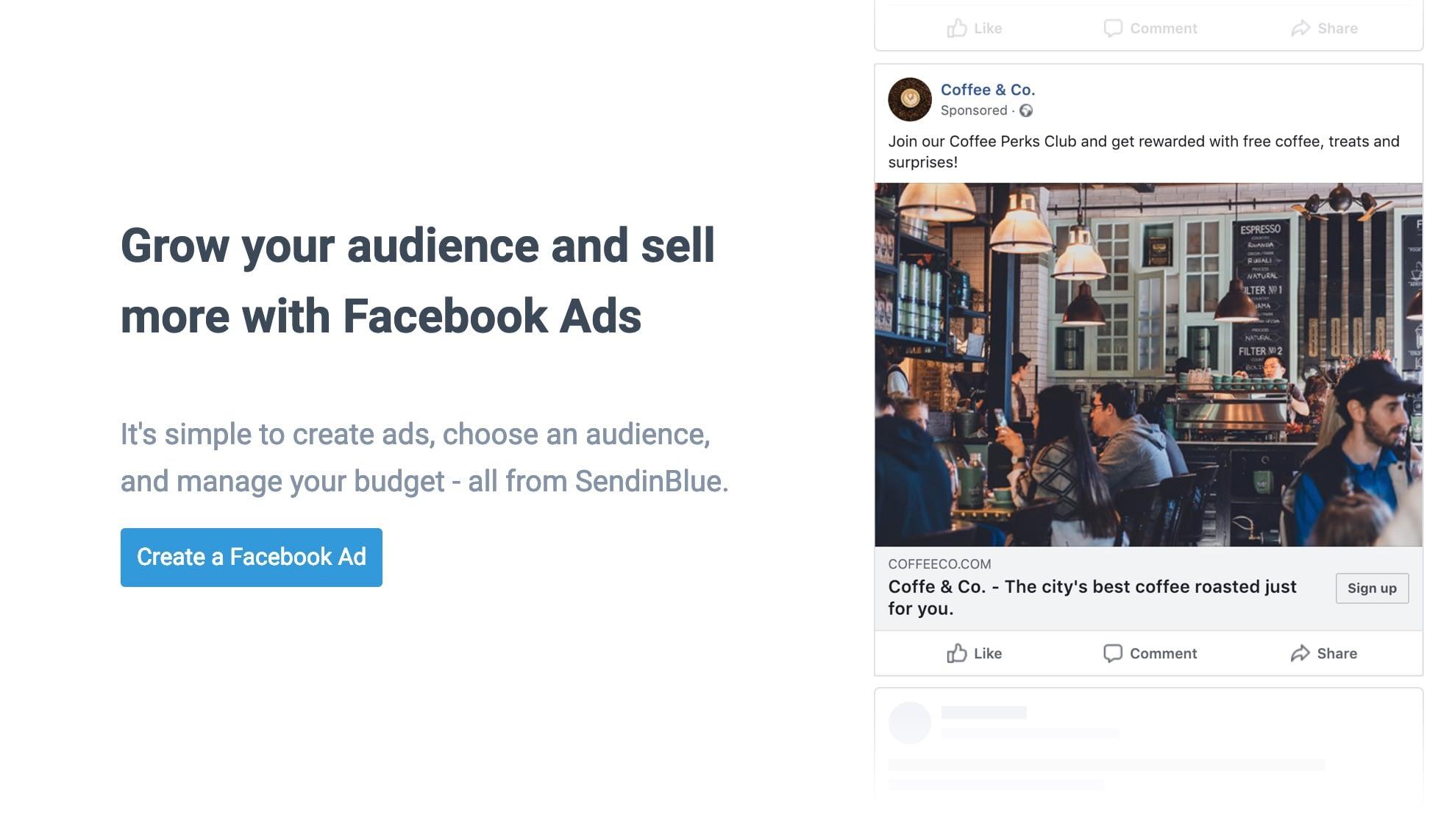 SendinBlue FB ad