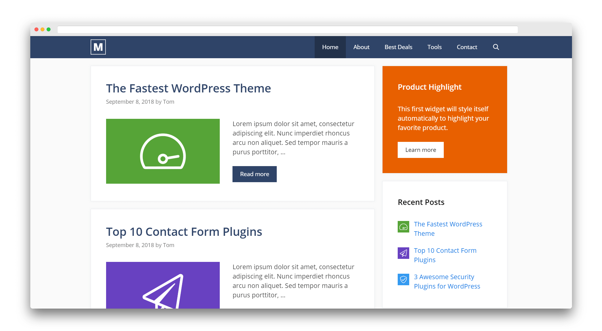 GeneratePress is a great free Elementor theme