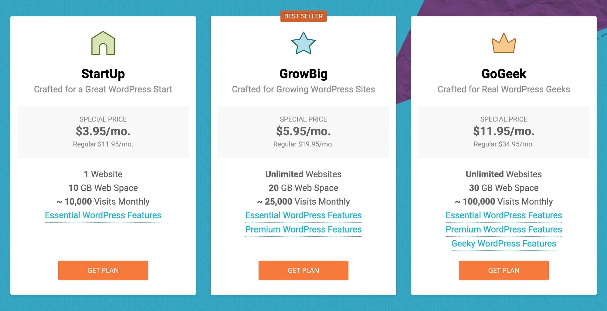 SiteGround pricing vs WP Engine