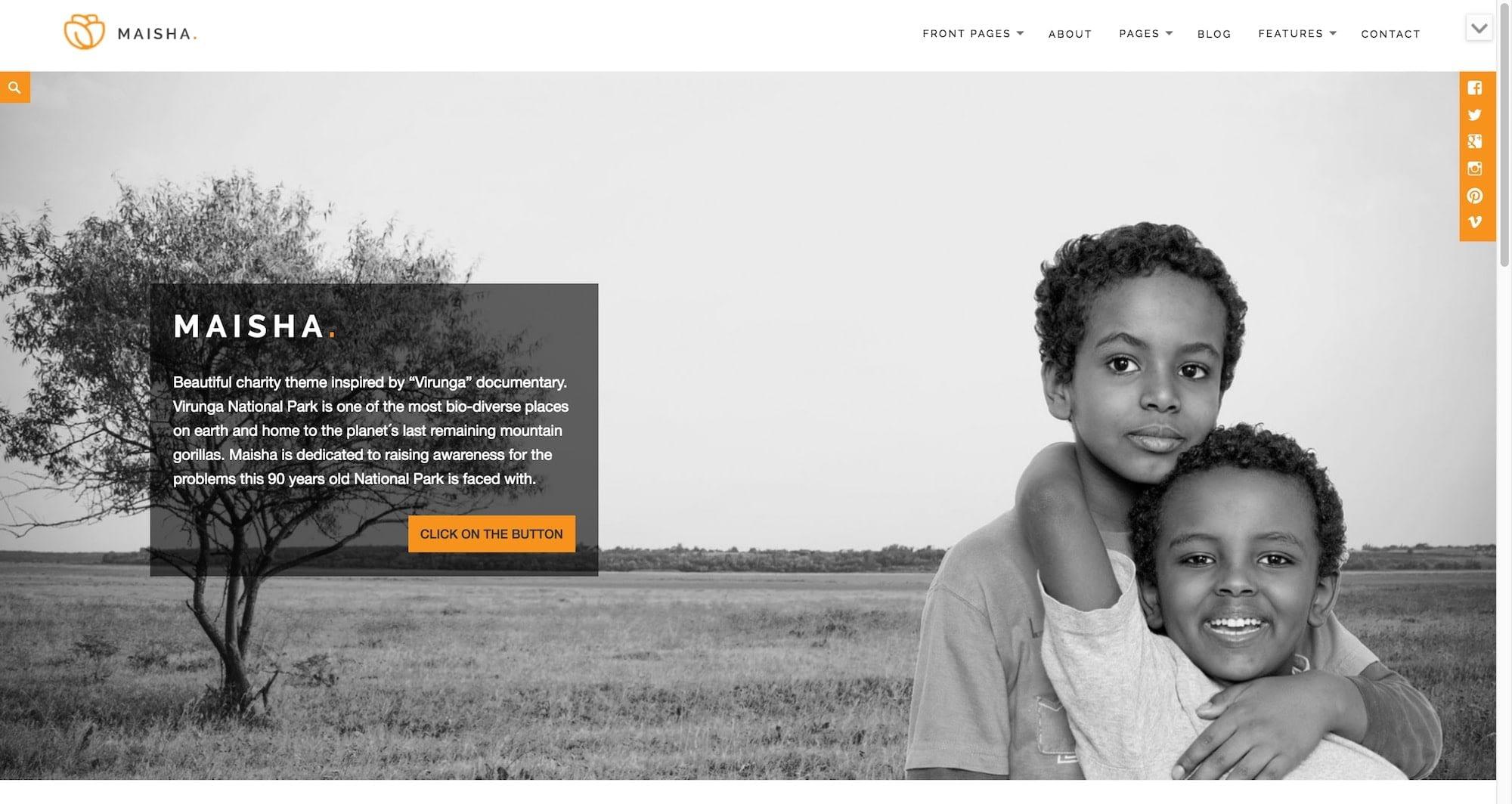 Maisha WordPress theme