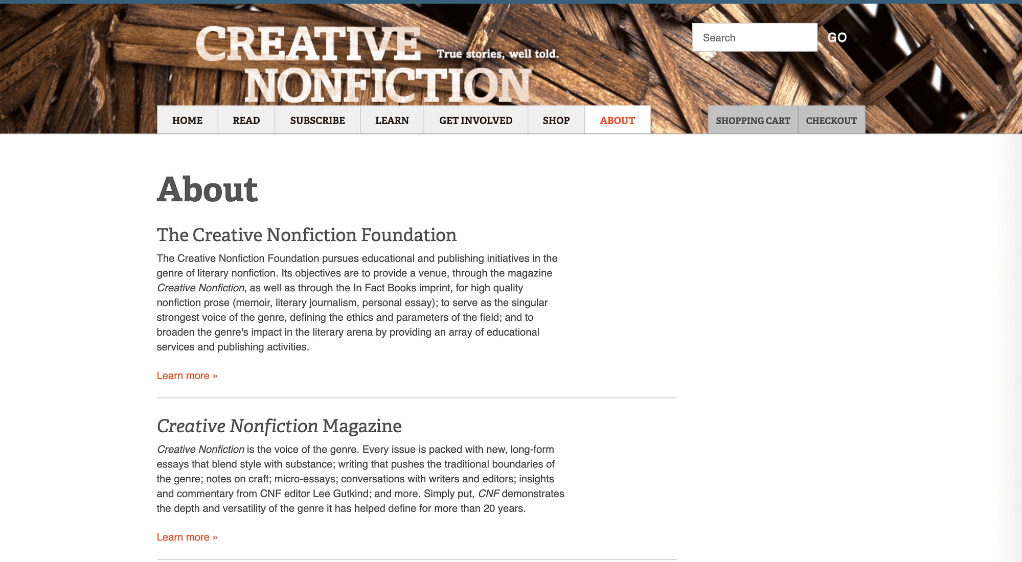 An example of an About page.