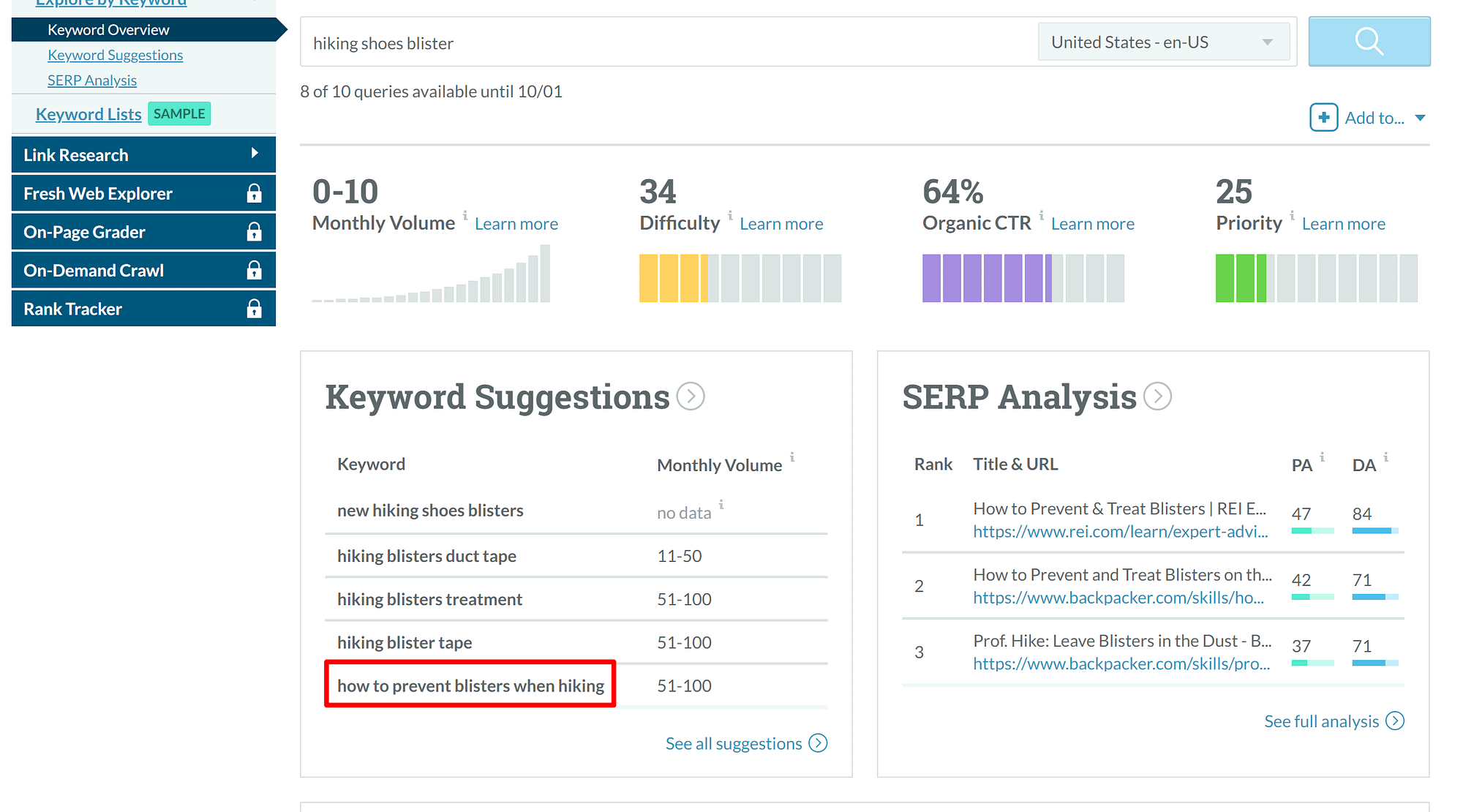 Moz Keyword Explorer helps you find what to sell online