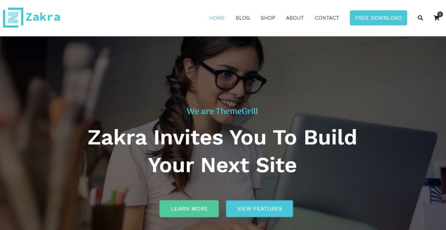 Zakra is a free theme that pairs well with Elementor