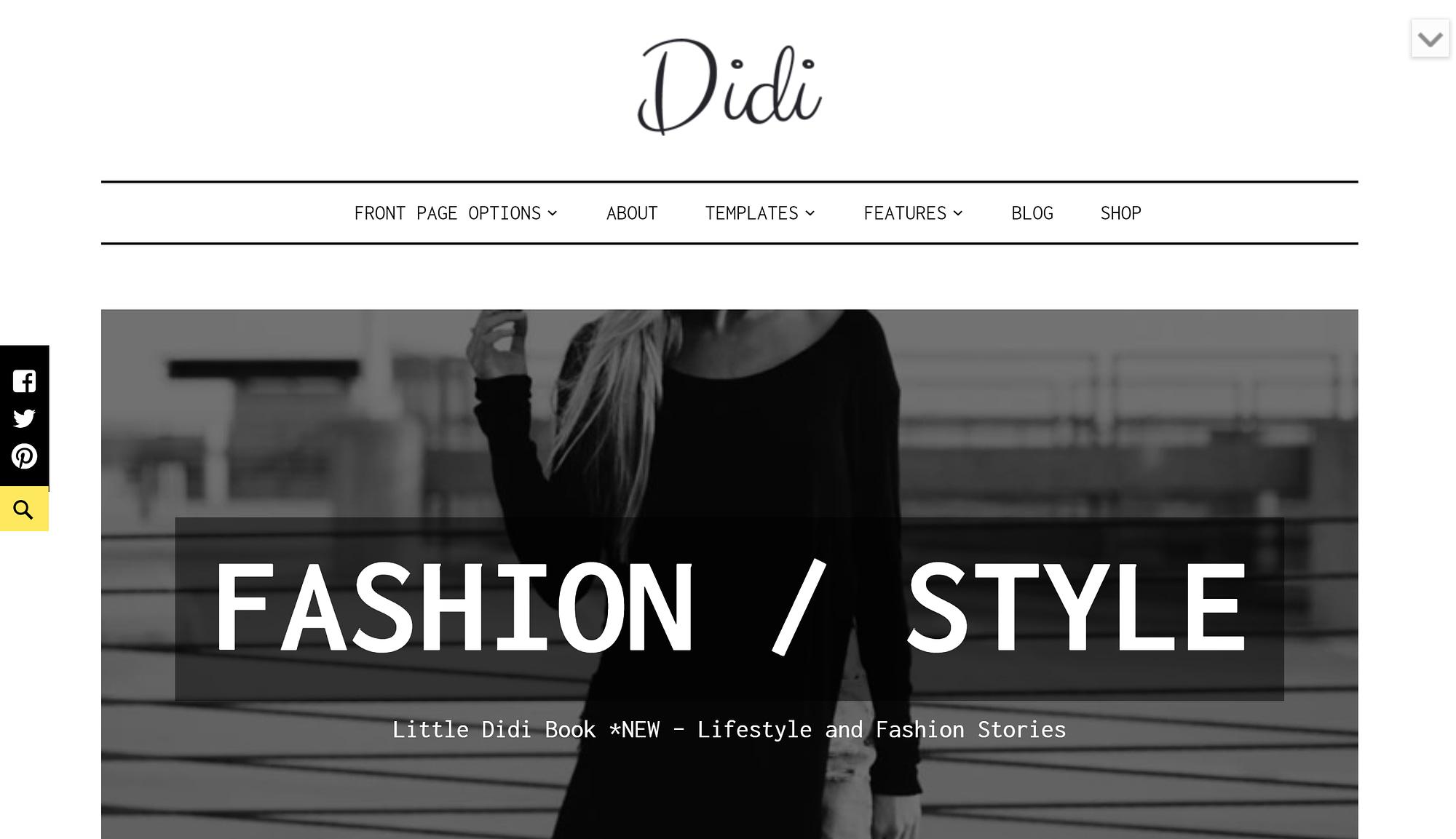WordPress fashion blog theme