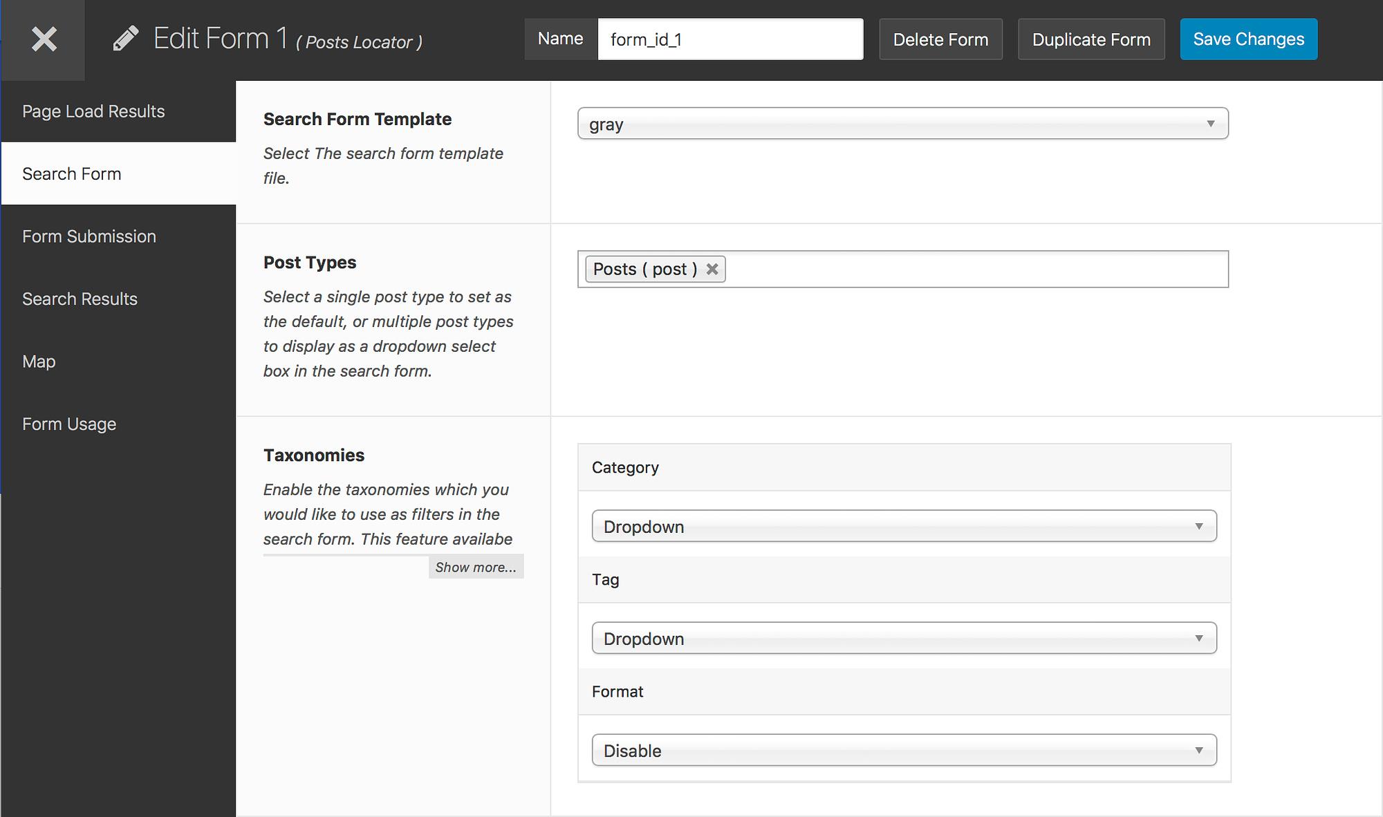 WordPress geo location example