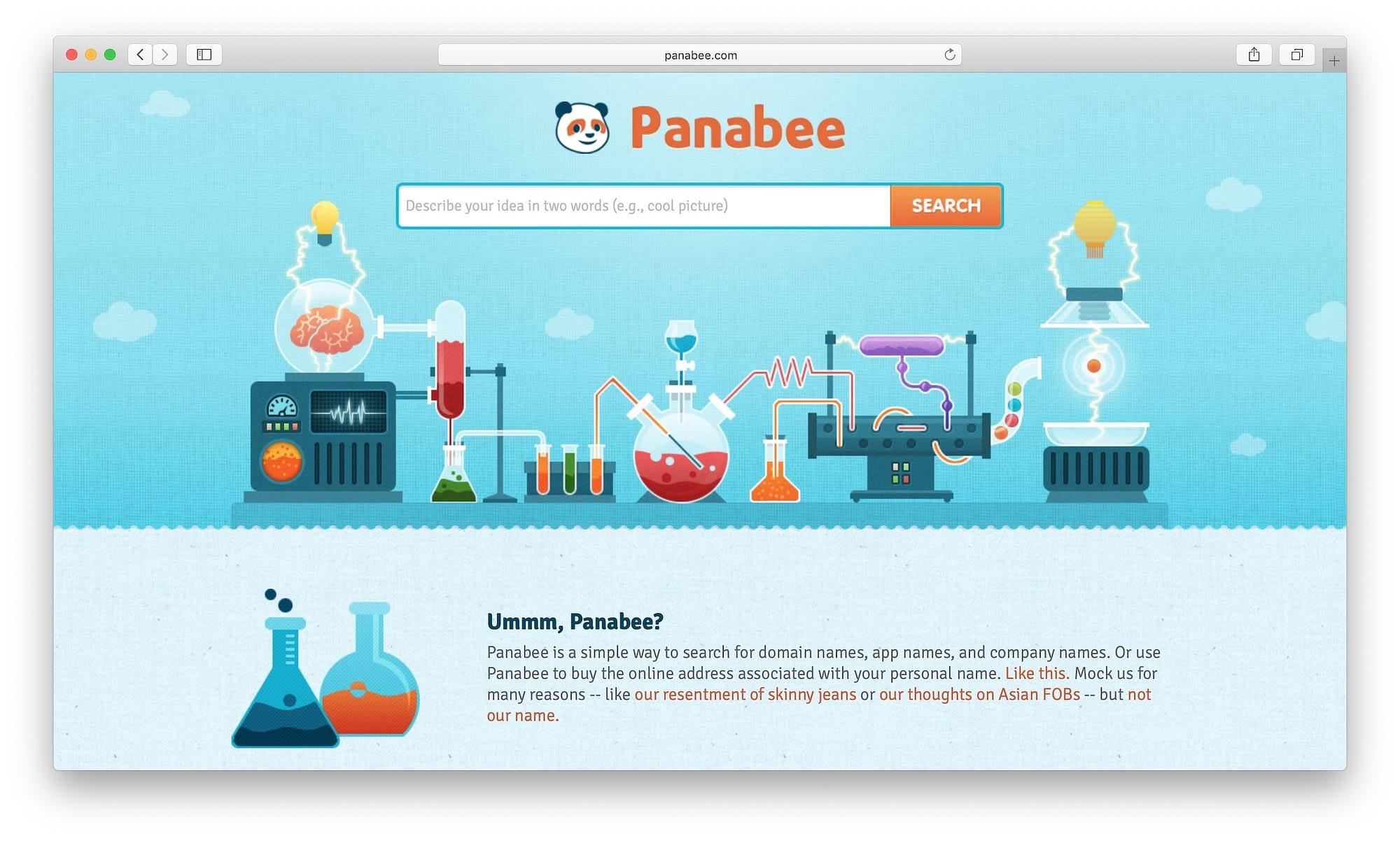 blog name generator: panabee