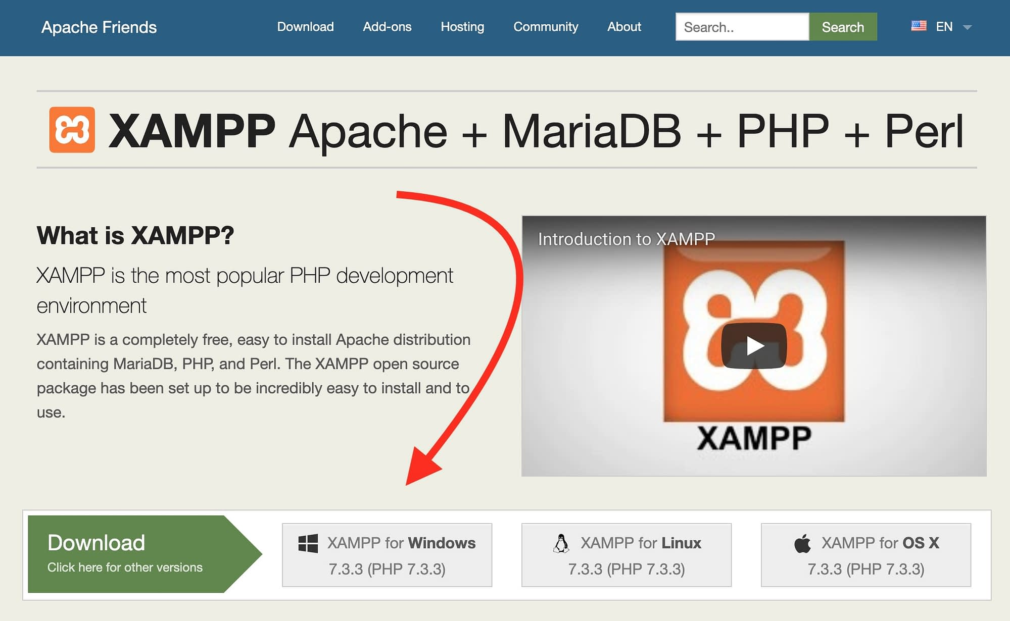 xampp website - your tool to install WordPress locally