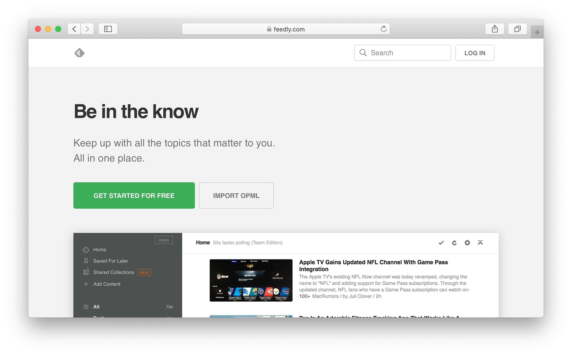 Feedly's clean design makes it an easy aggregator to view