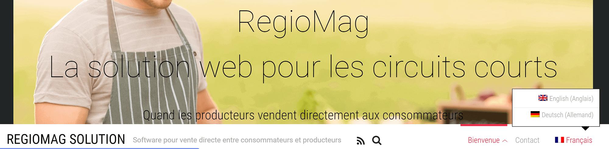The Regio Mag homepage.