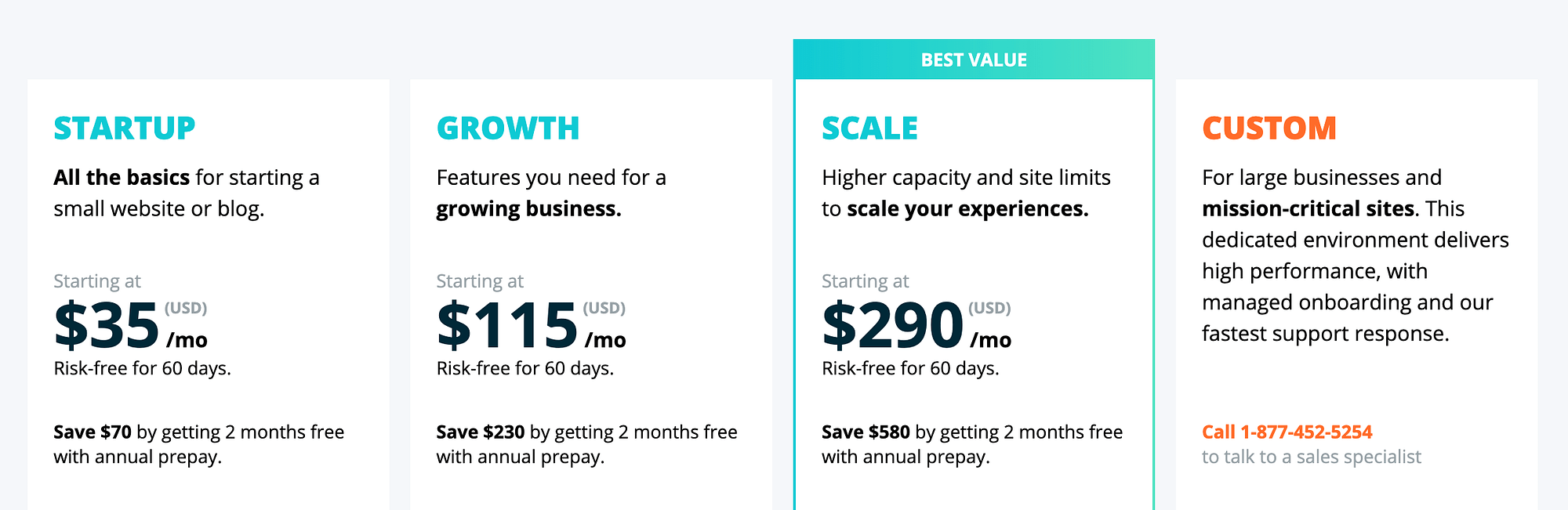 WP Engine pricing vs SiteGround