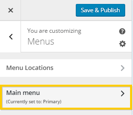 Viewing WordPress Menu Settings