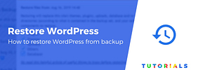How to Restore WordPress From Backup Using a Plugin or cPanel