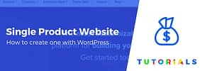 How to Create a Single Product Website With WordPress (In 4 Steps)