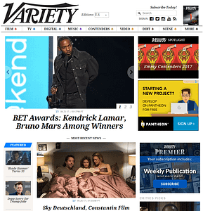 Variety-WordPress-Front-Page