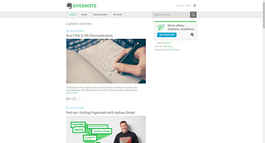 Evernote-blog-WordPress-Front-Page