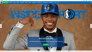 Dallas-Mavericks-WordPress-Front-Page