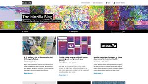 Mozilla-Blog-WordPress-Front-Page