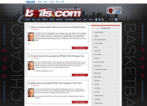 Chacago-Bulls-blog-WordPress-Front-Page