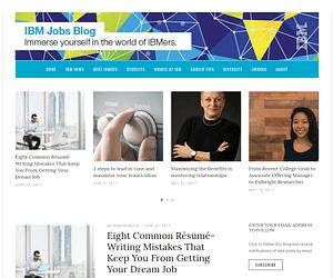 IBM-jobs-blog-WordPress-Front-Page