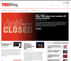 TED-WordPress-Front-Page