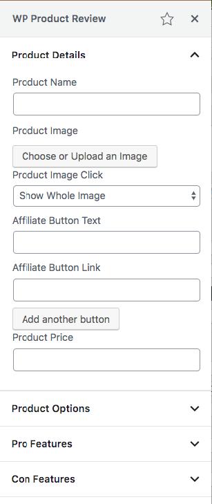WPPR in editor sidebar