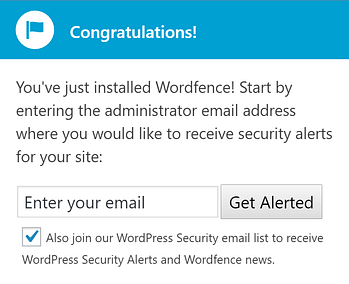 The Wordfence Security email notification.