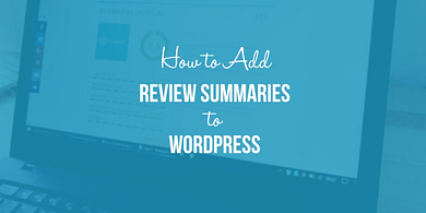 add review summaries to WordPress