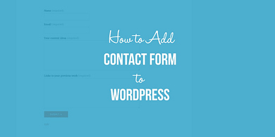 How to add a contact form to WordPress