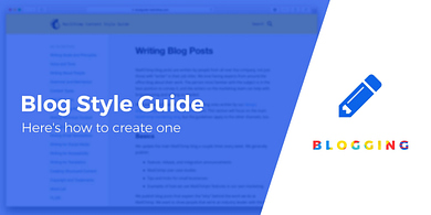 Create a blog style guide