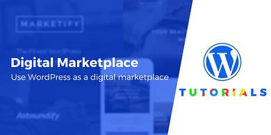 digital product marketplace on WordPress