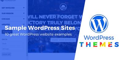 Sample WordPress Sites