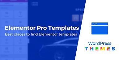 Elementor Pro templates