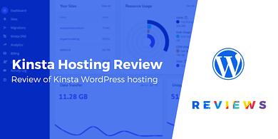 Kinsta review for WordPress