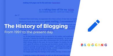 History of Blogging