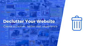 Remove Clutter from Website