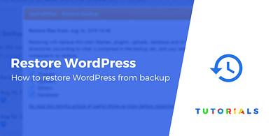 Restore WordPress from Backup