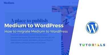 Migrate Medium to WordPress