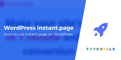 Instant Page on WordPress