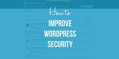 improve WordPress security