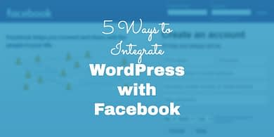 Integrate WordPress with Facebook
