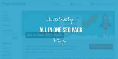 Set up All In One SEO Pack