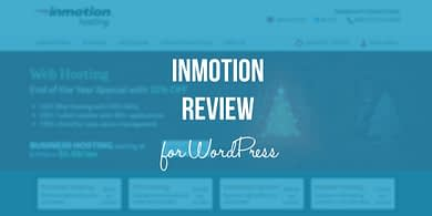 InMotion review for WordPress
